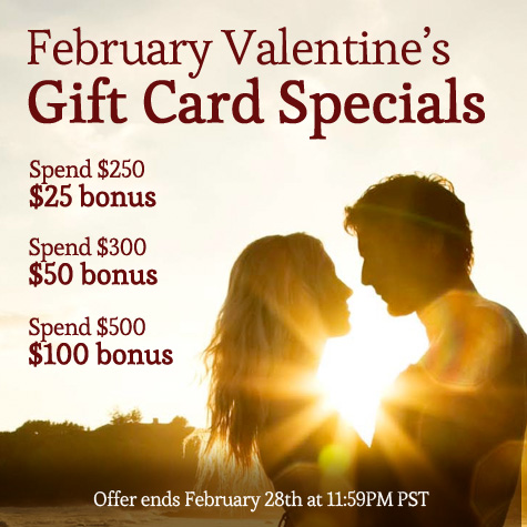 rA's 11th Valentine's Day Celebration & Gift Card Special