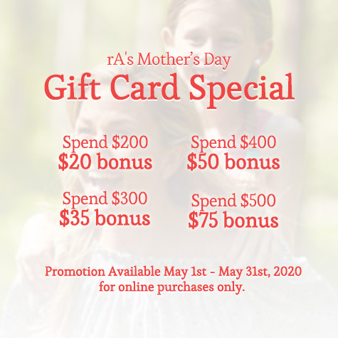 rA Organic Spa - 2020 Mother's Day Gift Card Special