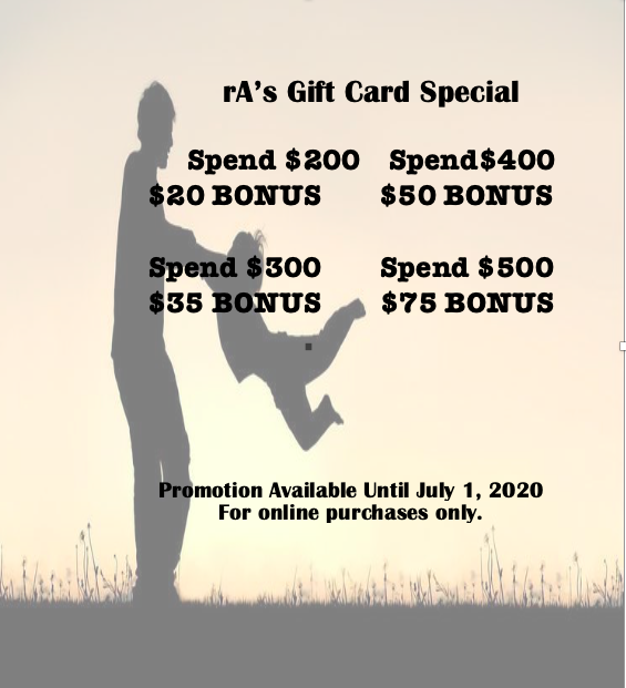 rA Organic Spa - gift card special