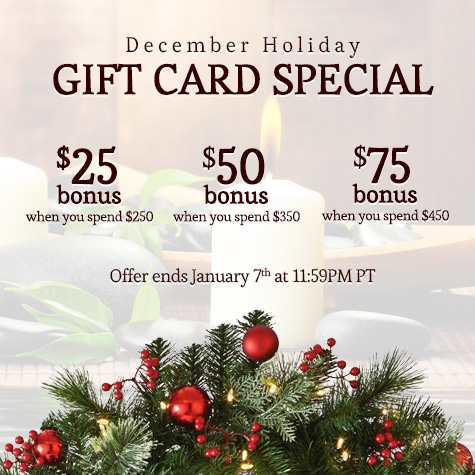 rA Organic Spa - 2020 December Gift Card Special