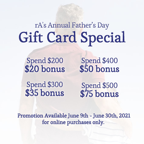 rA Organic Spa - 2021 Father's Day Gift Card Special